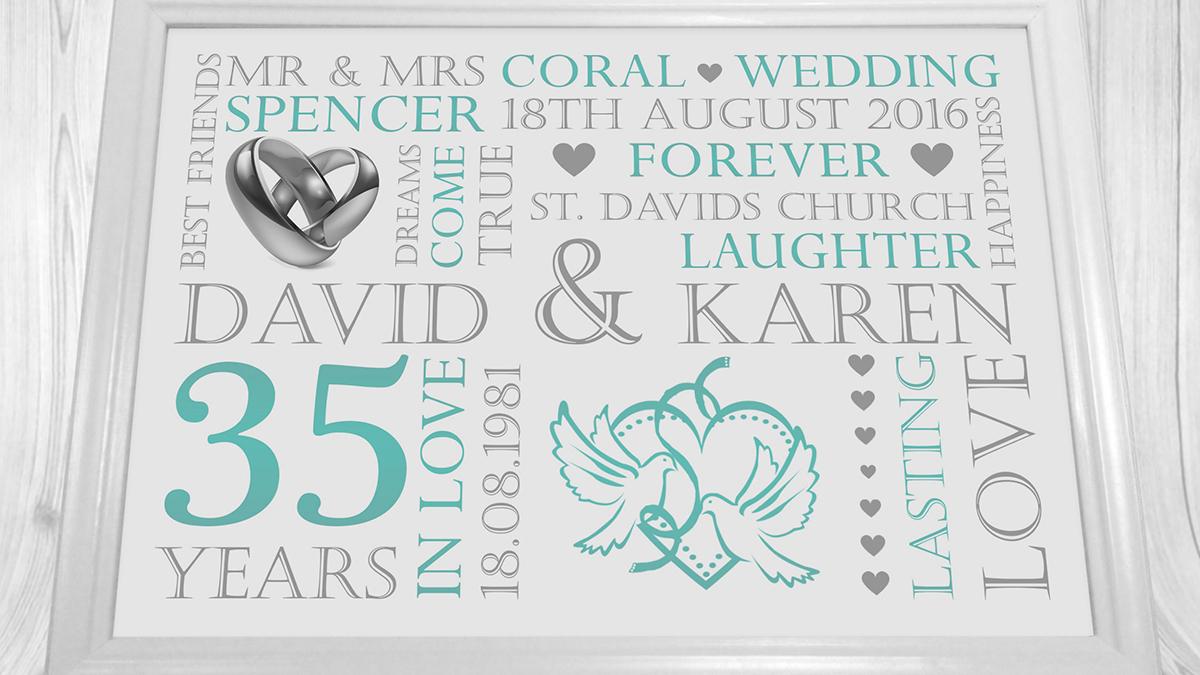 35 лет свадьбы: какая свадьба и что дарят на коралловую годовщину